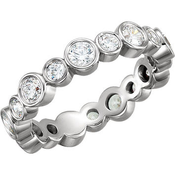 1.5 Ct. Bezel Set Diamond Eternity Band