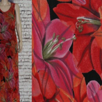 90s Maxi Dress Chiffon Tropical Floral Print Boho Festival hipster Hippie Grunge S M Bright Colors long rayon Small