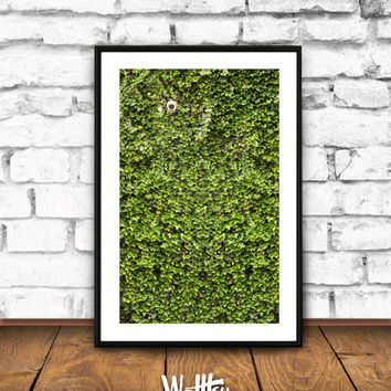 Living room Wall Art, Living Room decor, Green Wall, Security Camera, Living Wall, Living Room, Poster, Printable, Wall art, Green Leaves