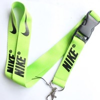 Nike Lanyard Key Chain ID Strap Lime Green  Black ELITE ☆FREE USA SHIPPING