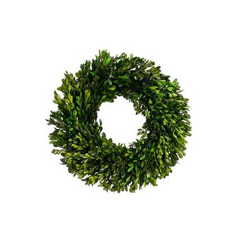 "Preserved Boxwood Wreath - 17"" Wide"