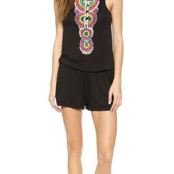 Nanette Lepore Beach House Beads Romper