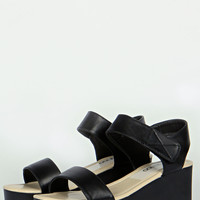 Caroline Cleated Basic Strap Wedge
