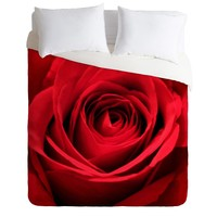 Shannon Clark Red Rose Duvet Cover
