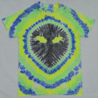Alien Shirt Tie Dye Small Soft Grunge Hippie Trippy Psychedelic Clothing Outer Space Galaxy Womens Handmade Clothing Mens Unisex