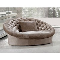 Cosmopolitan Modern Fabric Sofa Chair with Crystals