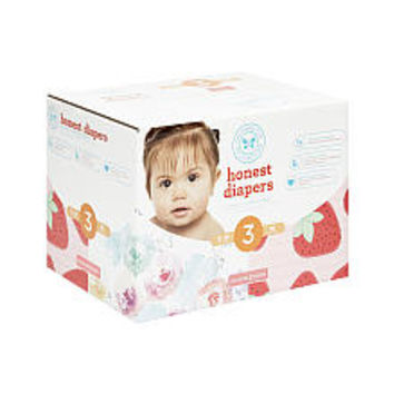 The Honest Company Rose Blossom and Strawberries Size 3 Disposable Diapers Club Box - 68 Count