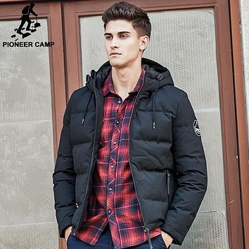 Men down jacket puffer down jacket men casual winter duck down coat snow warm parkas for men