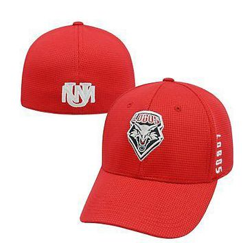 Licensed New Mexico Lobos Official NCAA One Fit Booster Plus Hat Cap by Top of the World KO_19_1