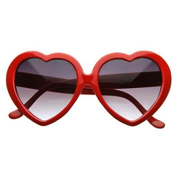 Cute Celebrity Sweet Heart Shape Sunglasses 8182