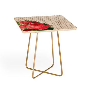 Allyson Johnson Floral Polka Dots Side Table