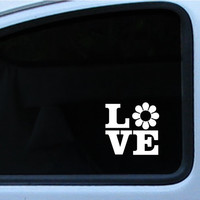 "VW Flower Power, Ricky Ticky Stickies Decals For Your Car Love Sign 4"", In multiple of different colors"