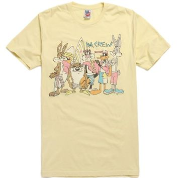 Junk Food Looney Tunes T-Shirt - Mens Tee - Yellow -