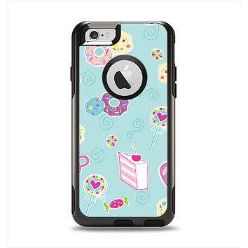 The Subtle Blue with Pink Treats Apple iPhone 6 Otterbox Commuter Case Skin Set
