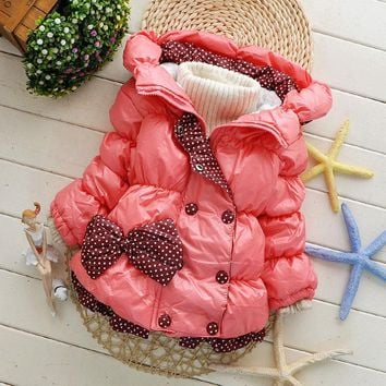 2017 Kids Baby Girl Winter Coat Jacket Children Outerwear Hooded Jacket Kids Winter Jacket For Girls Jackets & Coats
