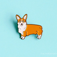 Pembroke Welsh Corgi Enamel Lapel Pin - Button