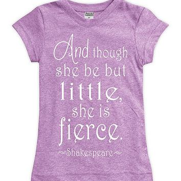 Mauve 'Little But Fierce' Fitted Tee - Toddler & Girls
