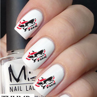 red fox racing  Nail Decals nail decal nail art nail sticker