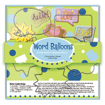 Word Balloons Cookie Cutter Set, 5 pc