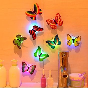 3D Butterfly Design Decal Art Wall Stickers Room Magnetic Home Decor (12Pcs)