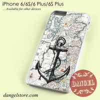 nautica map and anchor Phone case for iPhone 6/6s/6 Plus/6S plus