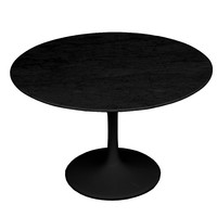 "Flower Marble Table 32"" Black, Black"