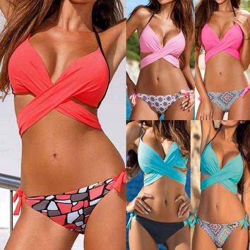 Women Female Bikinis Split Swimwear Straps Swimsuit Bather Suit