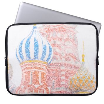 St Basil's Cathedral In Snowstorm Laptop Sleeve
