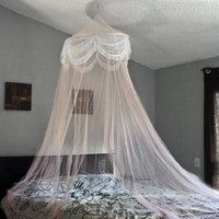 Best Choice Products Pink Princess Bed Canopy Mosquito Net Bed Netting