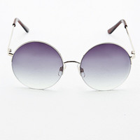 Half Frame Round Sunglasses - Urban Outfitters