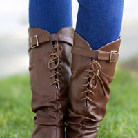 Lace Up Slouchy Boots