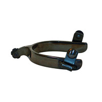 Black Steel Short Go Roper Spur