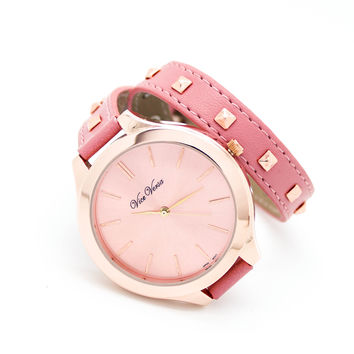 Stud strap watch (2 colors)