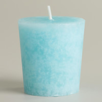 Mediterranean Sea Mottled Votive Candles, Set of 12 - World Market