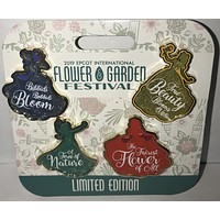 Disney Epcot Flower & Garden 2019 Princess Limited Edition Pin Set New