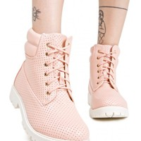 Rosewater Perforated Work Boots | Dolls Kill