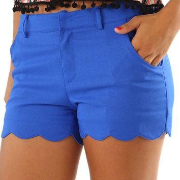 One More Wave Shorts: Royal Blue