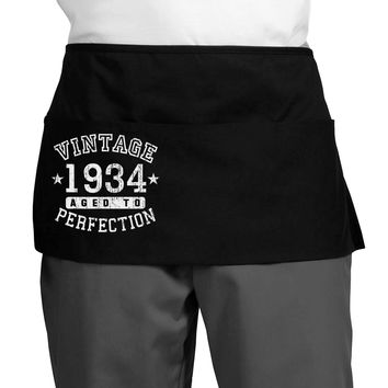 Vintage Birth Year 1934 Dark Adult Mini Waist Apron