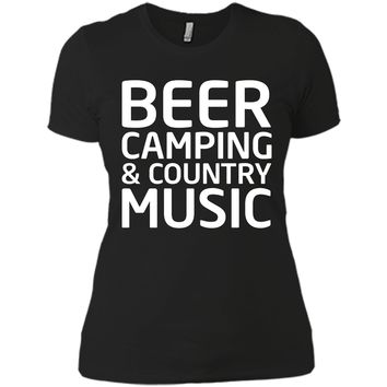 Beer, Camping, and Country Music Outdoors T-shirt T-Shirt