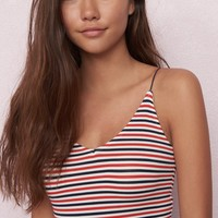 Stripe V-Neck Cami