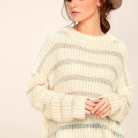 Elsa Cream Knit Sweater