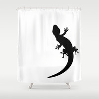 Lizard Shower Curtain by Nicklas Gustafsson