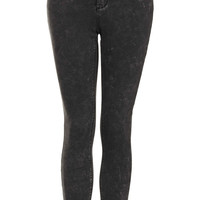 MOTO Black Mottle Leigh Jeans