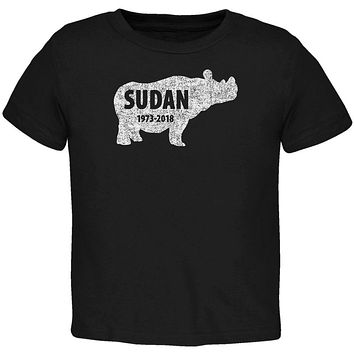 Sudan Last Male White Rhino Silhouette Toddler T Shirt