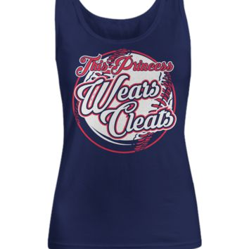 This Princess Wears Cleats Softball Women's Tank Top