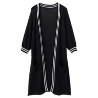 Stripes Long Knitted Cardigan