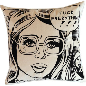 Fuck Everything Lady Pillow