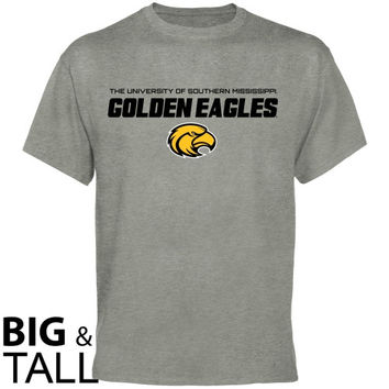 Southern Miss Golden Eagles On Point Big and Tall T-Shirt - Ash