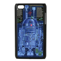 star wars R2D2 blueprints apple ipod 4 4g touch case cover