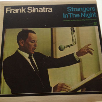 "Frank Sinatra Vinyl Record- ""Strangers In the Night""  Jazz music from the 60's, vinyl records, Easy listening music, 60's Jazz, Rat Pack"